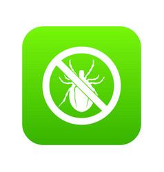 No bug sign icon digital green vector
