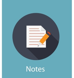 Notes flat concept icon vector