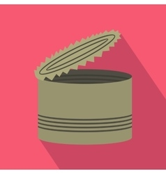 Open tin can icon flat style vector image