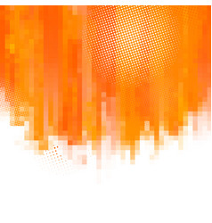 Orange abstract paint splashes vector