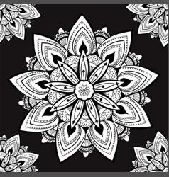 Ornamental seamless pattern with mandala vintage vector