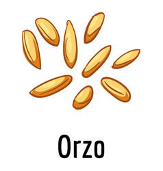 Orzo icon cartoon style vector