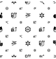 Play icons pattern seamless white background vector
