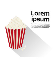 popcorn box isolated food cinema movie concept vector image