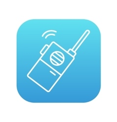Portable radio set line icon vector image vector image