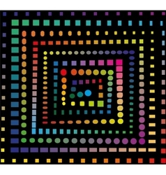 Rainbow spiral pattern vector image