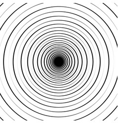 Ripple pattern with concentric circles circular vector