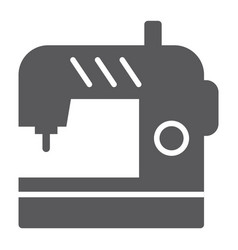 Sewing machine glyph icon electric and textile vector