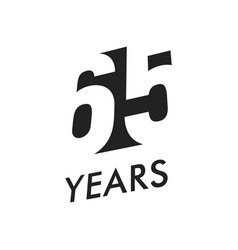 Sixty five years emblem template vector