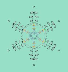 snowflakes icon in doodle sketch lines winter vector image
