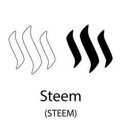 steem black silhouette vector image