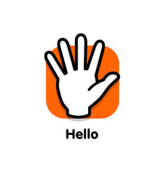 Stop logo palm man turned towards viewer vector