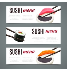 Sushi Banners Horizontal vector