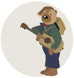 Teddy bear is guitarist vector