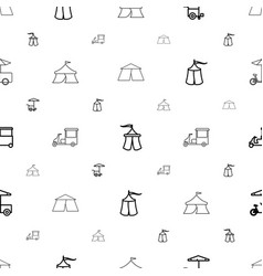 tent icons pattern seamless white background vector image