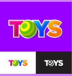 toys logo baonline shop letter o like ball vector image