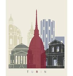 Turin skyline poster vector