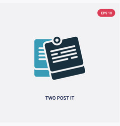 Two color two post it icon from other concept vector