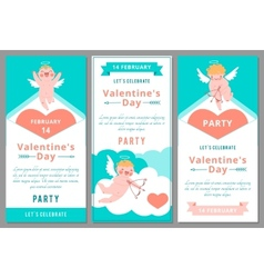 Valentines Day Party Design templates vector image