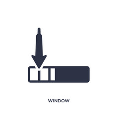 Window scrolling left icon on white background vector