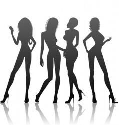 women's silhouette vector image
