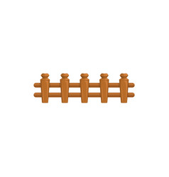 wooden fencing isolated country timber fence icon vector image
