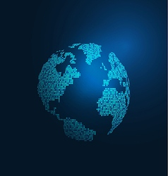 World map digital tech concept isolate on blue vector