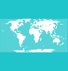 world map dotted square vector image