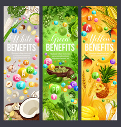 Yellow green and white days of color diet vector