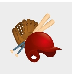 Baseball hat bats vector