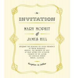 Classic wedding invitations vector image vector image
