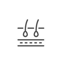hair scheme line icon vector image