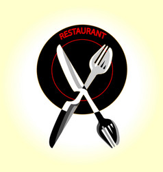 restaurant for gourmets graphic design logo vector image