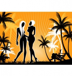 summer pic vector image vector image