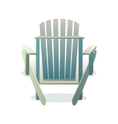 Adirondack wooden chair from the back vector image