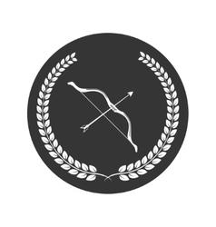 bow and arrow logo vector image