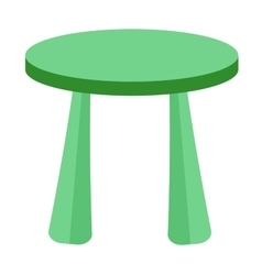 Small and colorful table for little kids vector image