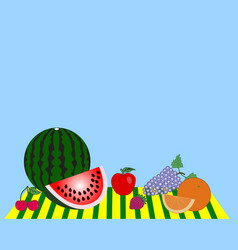 still life consisting of ripe fruits vector image vector image