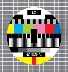 tv no signal monoscope vector image vector image
