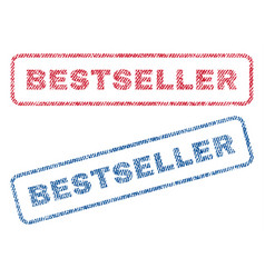 bestseller textile stamps vector image