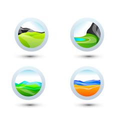 business design landscape elements icon set for vector image vector image