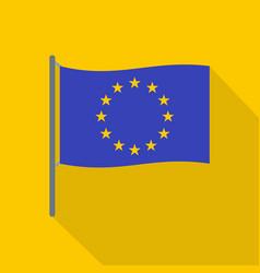 european flag icon flat style vector image