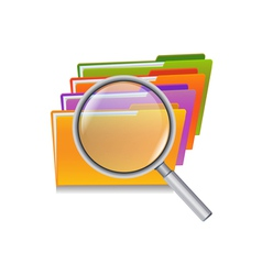 folder search vector image vector image