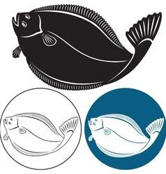 halibut vector image