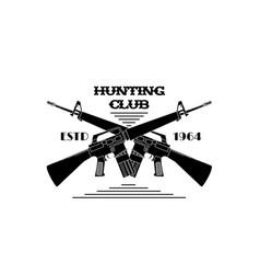 Hunter club emblem vector
