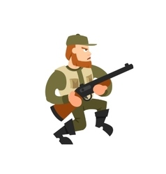 Hunter on isolated background vector image