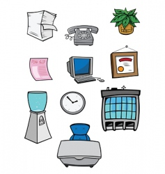 office stuff vector image vector image