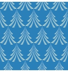 Seamless Christmas pattern White firs trees on vector image