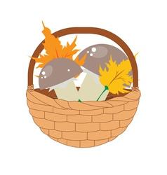 Basket of Mushrooms2 vector image vector image