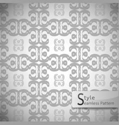 flower monochrome lattice vintage geometric vector image vector image